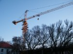 a lovely morning sunshine over crane on building site nearbenzr